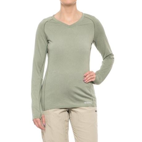 Simms Drifter Tech Shirt - V-Neck, Long Sleeve (For Women) in Thyme