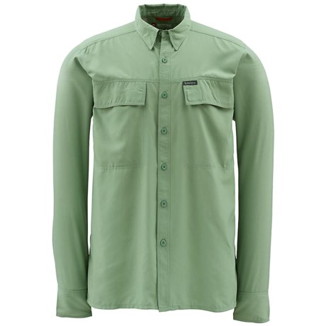 Simms EbbTide Fishing Shirt - UPF 50+, Long Sleeve (For Men) in Turtle Grass
