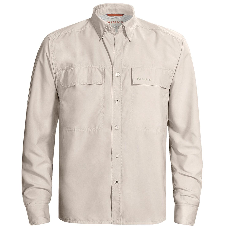 Simms ebbtide fishing shirt upf 50 long sleeve for for Men s upf long sleeve shirt
