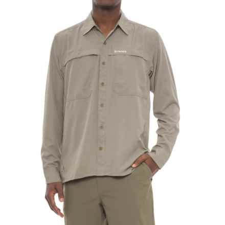 Simms Ebbtide Shirt - UPF 50+, Long Sleeve (For Men) in Dark Khaki - Closeouts
