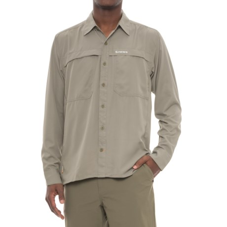 Simms Ebbtide Shirt - UPF 50+, Long Sleeve (For Men) in Dark Khaki