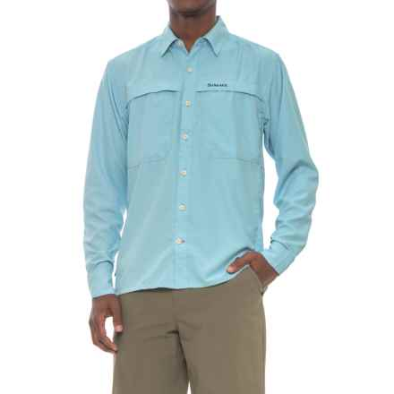 Simms Ebbtide Shirt - UPF 50+, Long Sleeve (For Men) in Sky Blue - Closeouts