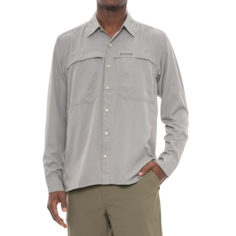 Simms Ebbtide Shirt - UPF 50+, Long Sleeve (For Men) in Sterling