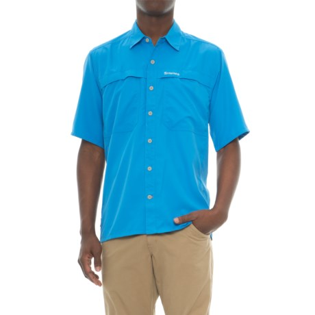 Simms Ebbtide Shirt - UPF 50+, Short Sleeve (For Men) in Blue Harbor