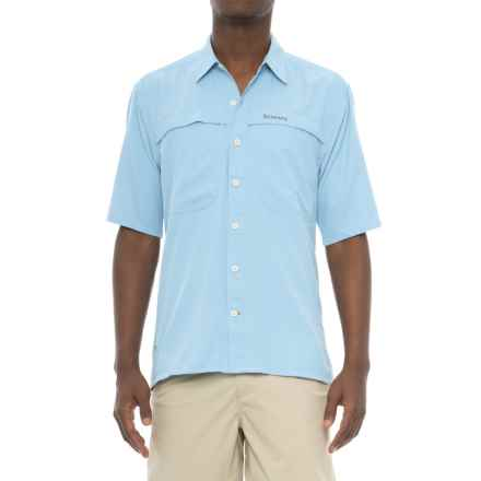 Simms Ebbtide Shirt - UPF 50+, Short Sleeve (For Men) in Light Blue - Closeouts