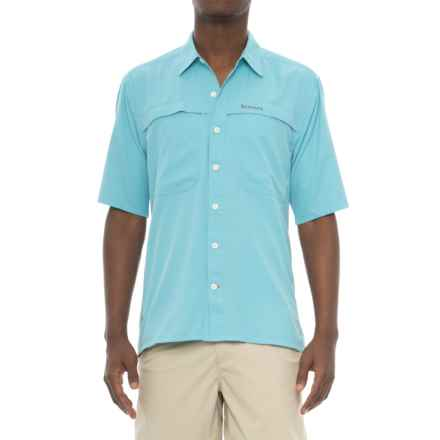 Simms Ebbtide Shirt - UPF 50+, Short Sleeve (For Men) in Sky Blue - Closeouts
