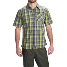 Simms Espirito Shirt - UPF 30+, Short Sleeve (For Men) in Citron Plaid - Closeouts