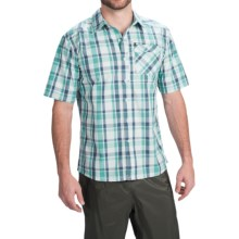 Simms Espirito Shirt - UPF 30+, Short Sleeve (For Men) in Tropic Blue Plaid - Closeouts