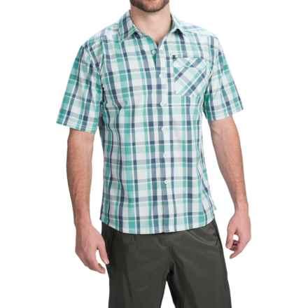 Simms Espirito Shirt - UPF 30+, Short Sleeve (For Men) in Tropic Blue Plaid - Closeouts