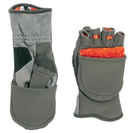 Simms ExStream Polartec® Fold-Over Mittens (For Men) in Dark Gunmetal - Closeouts