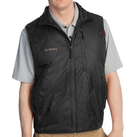 Simms Fall Run Vest - Insulated (For Men) in Black