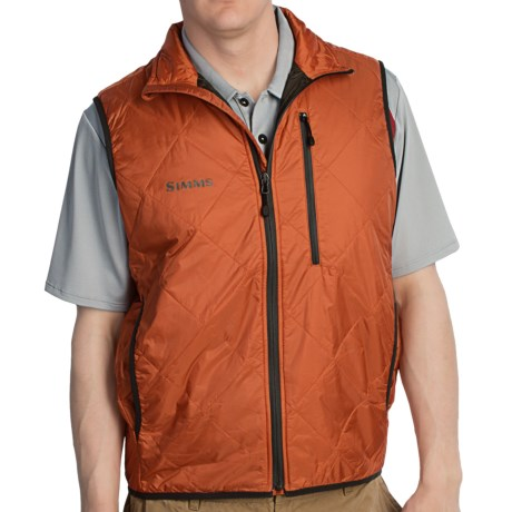 Simms Fall Run Vest - Insulated (For Men) in Fury Orange