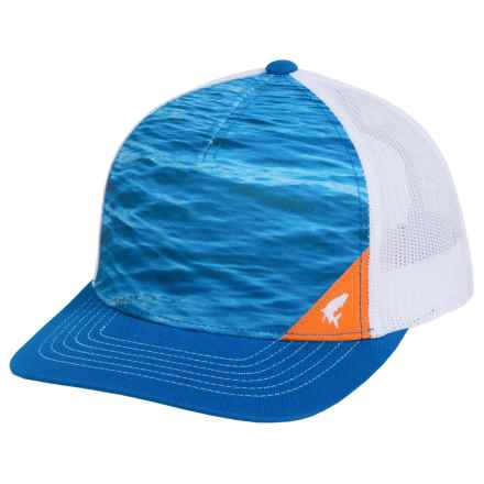 Simms Five-Panel Trucker Cap (For Men and Women) in Water Electric Blue - Closeouts