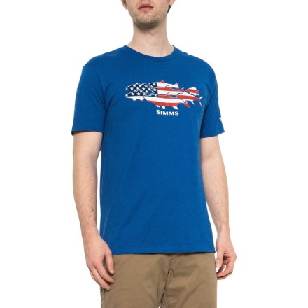 619946c8 Simms Flag Species T-Shirt - Short Sleeve (For Men) in Royal Heather