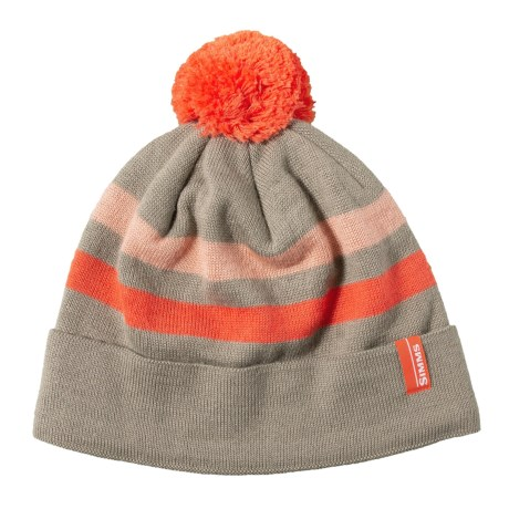 e6bf030ab3671 Simms Fly Fishing Fleece Lined Pom Tassel Beanie Cap   Hat.    Choose Color  - NEW!