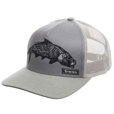 Simms FlexFit® 5-Panel Trucker Hat (For Men) in Larko Tarpon Anvil - Closeouts
