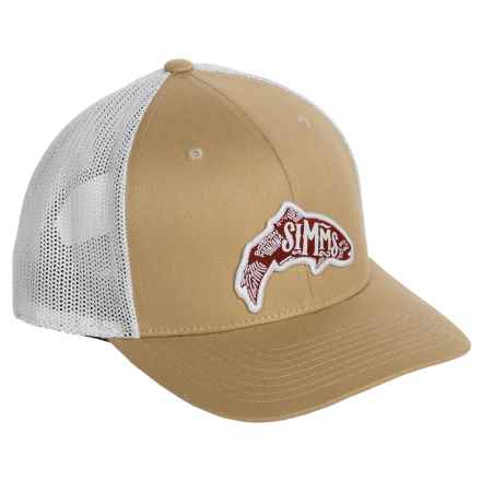 Simms Flexfit® Snap-Back Trucker Hat (For Men) in Acorn - Closeouts
