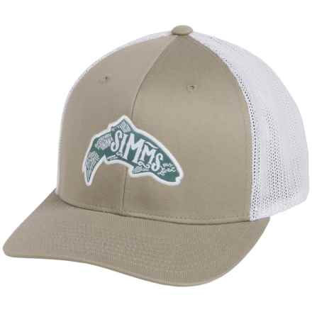 Simms Flexfit® Trucker Cap (For Men and Women) in Trout Coffee - Closeouts