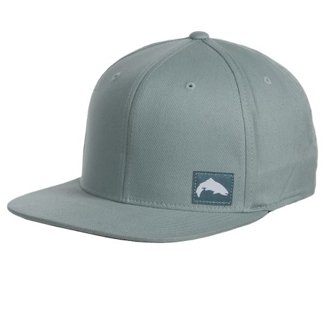 Simms Flexfit® Twill Snap-Back Cap (For Men and Women) in Smoke