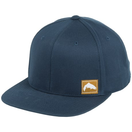Simms Flexfit® Twill Snap-Back Cap (For Men and Women) in Trout Navy