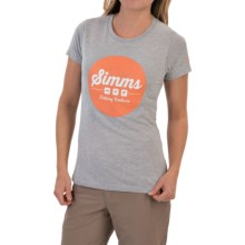 Simms Genuine Logo T-Shirt - Short Sleeve (For Women) in Ash Grey - Closeouts
