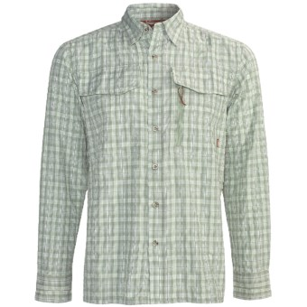 Simms Glenbrook Fishing Shirt - UPF 30+, Long Sleeve (For Men) in Moss