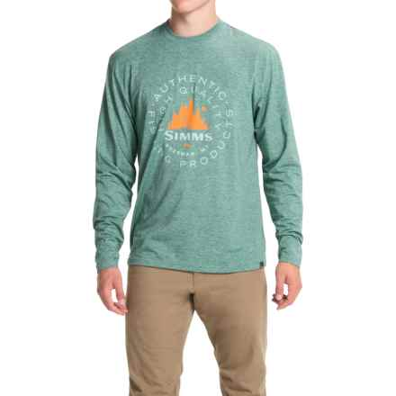 Simms Graphic Tech T-Shirt - UPF 20+, Long Sleeve (For Men) in Juniper - Closeouts
