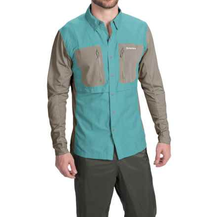 Simms GT TriComp Shirt - UPF 50+, Long Sleeve (For Men) in Cadet Blue - Closeouts