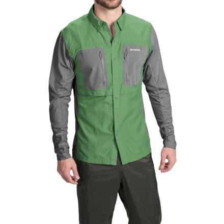 Simms GT TriComp Shirt - UPF 50+, Long Sleeve (For Men) in Mantis - Closeouts