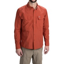 Simms Guide Shirt - UPF 50+, Button Front, Long Sleeve (For Men) in Terracotta - Closeouts