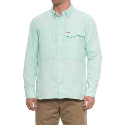 Simms Guide Shirt - UPF 50+, Long Sleeve (For Men) in Light Teal - Closeouts