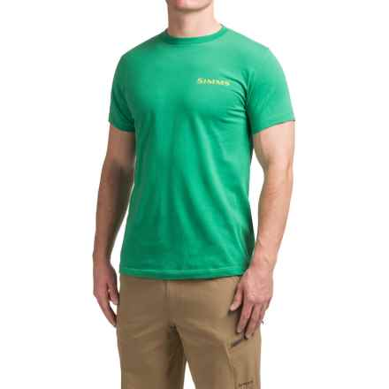 Simms Hatch T-Shirt - Cotton, Short Sleeve (For Men) in Shamrock - Closeouts