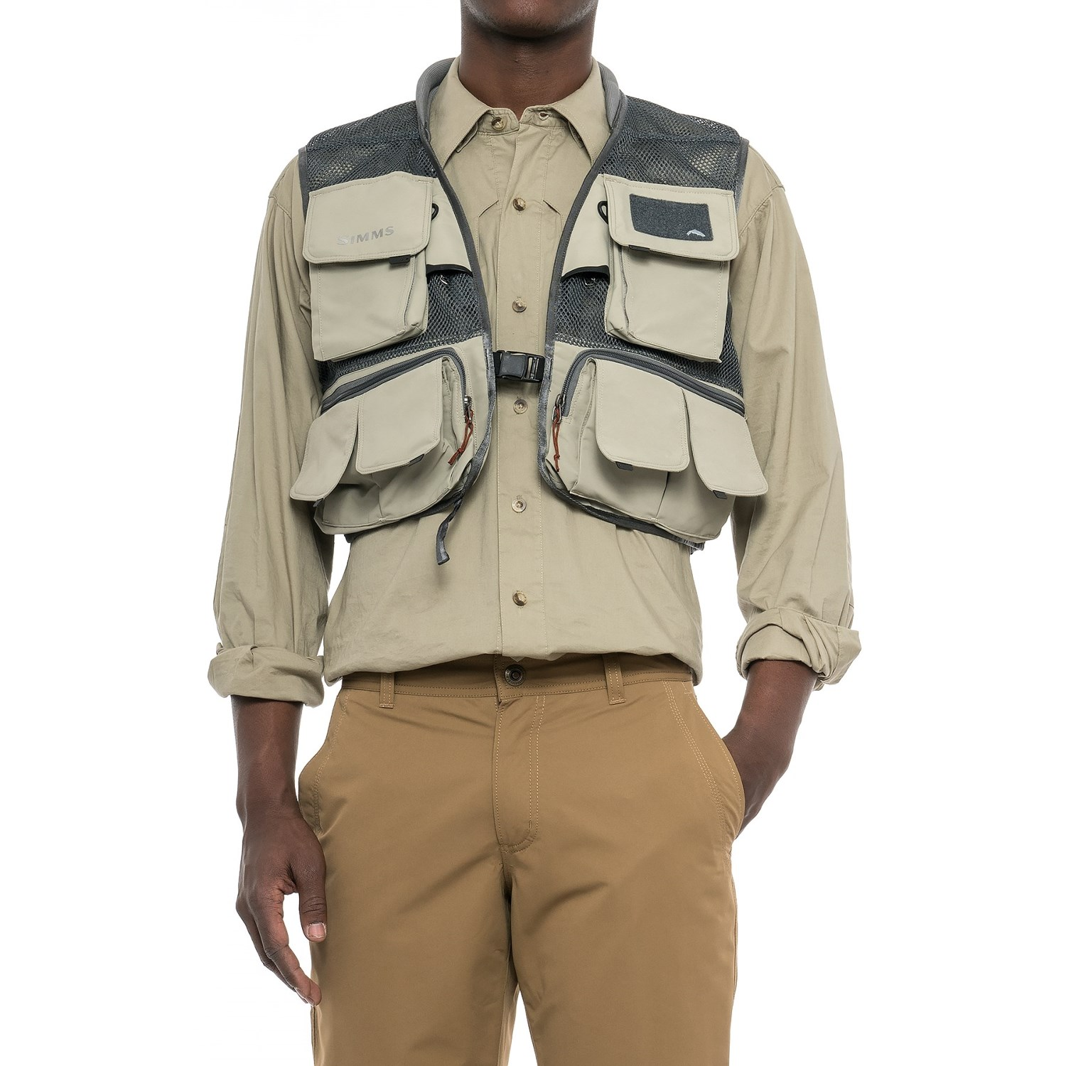 Simms headwaters mesh fishing vest for men save 62 for Mens fishing vest