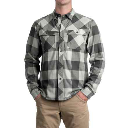 Simms Heavyweight Flannel Shirt - UPF 50+, Long Sleeve (For Men) in Boulder Plaid - Closeouts