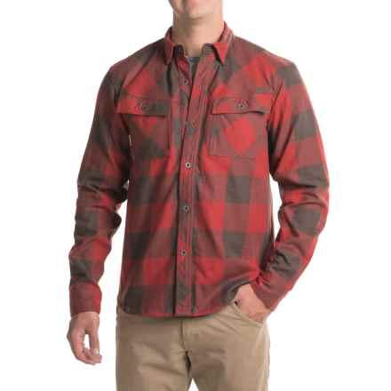 Simms Heavyweight Flannel Shirt - UPF 50+, Long Sleeve (For Men) in Ruby Plaid - Closeouts