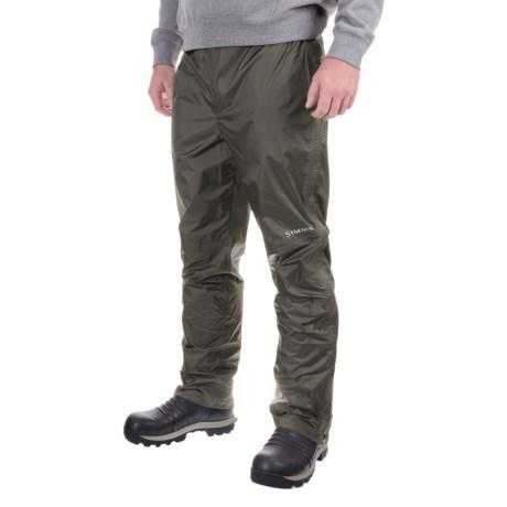 Simms Hyalite Rain Pants (For Men) in Dark Gunmetal