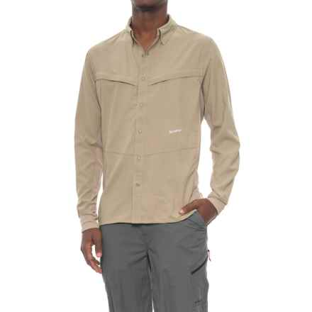 Simms Intruder® Bicomp Shirt - UPF 30+, Snap Front, Long Sleeve (For Men) in Dark Khaki - Closeouts