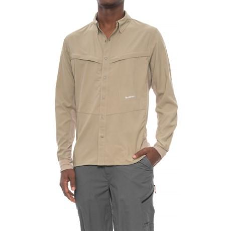 Simms Intruder® Bicomp Shirt - UPF 30+, Snap Front, Long Sleeve (For Men) in Dark Khaki