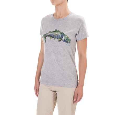 Simms Larko Tarpon T-Shirt - Short Sleeve (For Women) in Ash - Closeouts