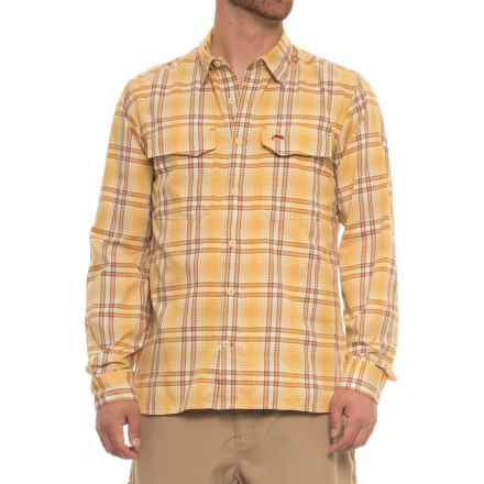 Simms Legend Shirt - UPF 50+, Long Sleeve (For Men) in Bright Yellow Plaid - Closeouts