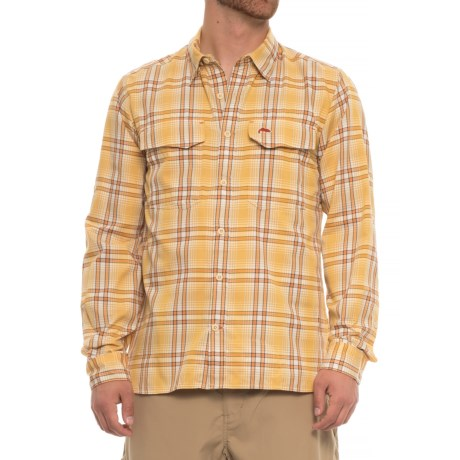 Simms Legend Shirt - UPF 50+, Long Sleeve (For Men) in Bright Yellow Plaid