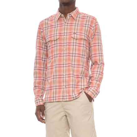 Simms Legend Shirt - UPF 50+, Long Sleeve (For Men) in Dark Coral Plaid - Closeouts