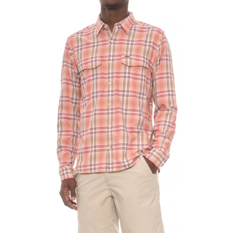 Simms Legend Shirt - UPF 50+, Long Sleeve (For Men) in Dark Coral Plaid