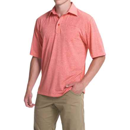 Simms Lowcountry Tech Polo Shirt - UPF 20+, Short Sleeve (For Men) in Brick - Closeouts