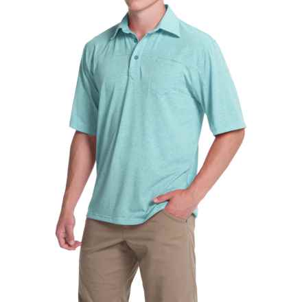 Simms Lowcountry Tech Polo Shirt - UPF 20+, Short Sleeve (For Men) in Sky Blue - Closeouts