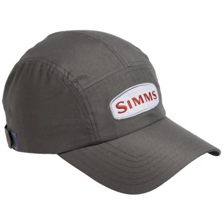 Simms Microfiber Short Bill Cap - UPF 50+ (For Men) in Gunmetal