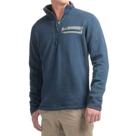 Simms Montana Techwool Fleece Shirt - Zip Neck, Long Sleeve (For Men) in Navy - Closeouts