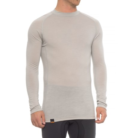 Simms Montana Wool Core Base Layer Top - Long Sleeve (For Men) in Pebble