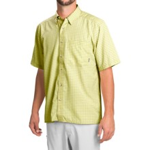 Simms Morada Shirt - UPF 30+, Button Down, Short Sleeve (For Men) in Citron - Closeouts
