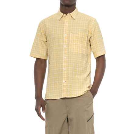 Simms Morada Shirt - UPF 30+, Button Down, Short Sleeve (For Men) in Light Yellow Plaid - Closeouts
